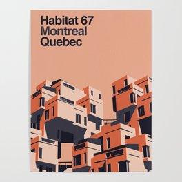 Habitat 67 retro poster Poster