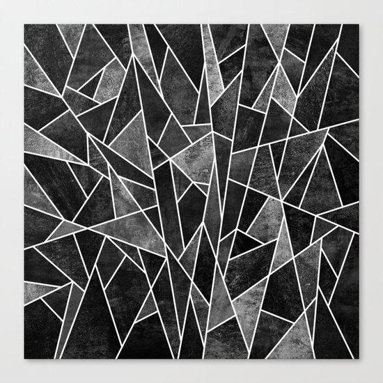 Shattered Black Canvas Print