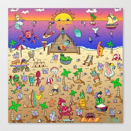 Danvillage Beach Life Canvas Print