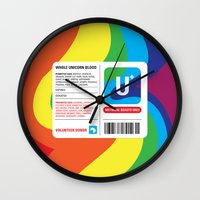 fairytale Wall Clocks featuring Fairytale Transfusion by Quick Brown Fox