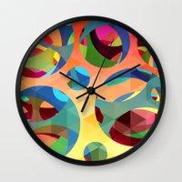 modern vampires of art history Wall Clocks featuring modern art by mark ashkenazi