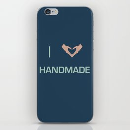 I heart Handmade iPhone Skin