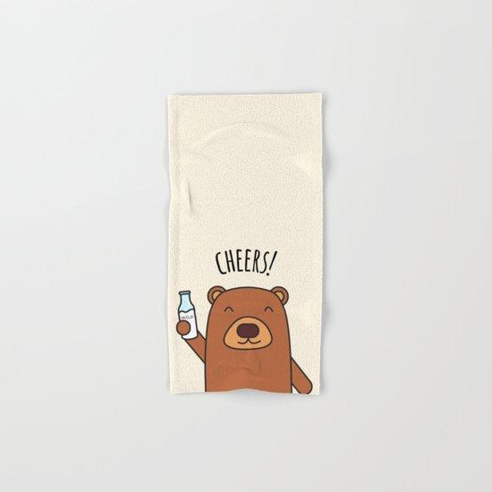 Cheers, Bear! Hand & Bath Towel