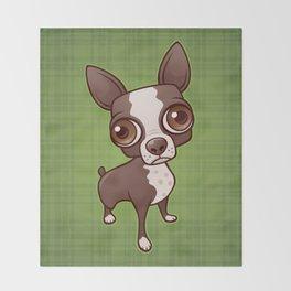 Zippy the Boston Terrier Throw Blanket