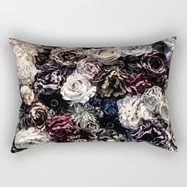 Flower Wall // Desaturated Vintage Floral Accent Background Jaw Dropping Decoration Rectangular Pillow