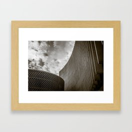 Texturized Brutalism Framed Art Print