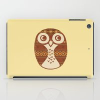 navajo iPad Cases featuring Navajo Owl  by Terry Fan