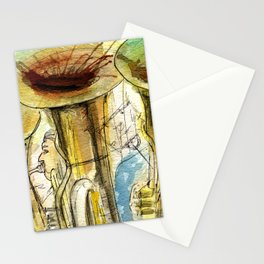 Tubas playing Stationery Cards