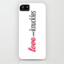 Love and Knuckles (Logo Graphic) iPhone Case