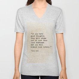 Roald Dahl Lovely Quote Unisex V-Neck