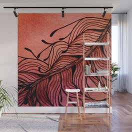 Doodled Autumn Feather 01 Wall Mural
