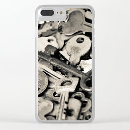 Old Keys Clear iPhone Case