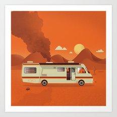 Breaking Van Art Print