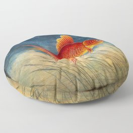 Floating red fish Floor Pillow