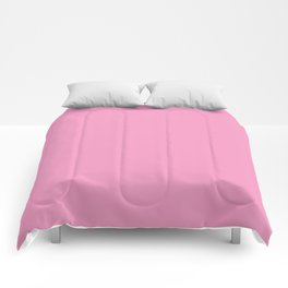 Bright Chalky Pastel Magenta Solid Color Comforters