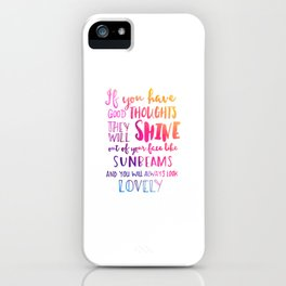 Good thoughts - colorful lettering iPhone Case