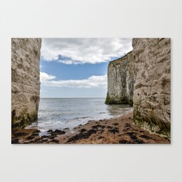 White Framed Cliffs - Botany Bay, England Canvas Print