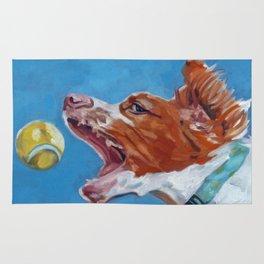 Brittany Spaniel Dog Portrait Rug