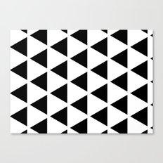 Sleyer Black on White Pattern Canvas Print