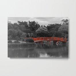 The Red Bridge (Higher Contrast) Metal Print