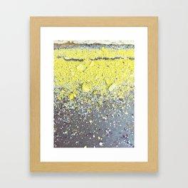 Chalk Dust Confetti - Yellow Framed Art Print