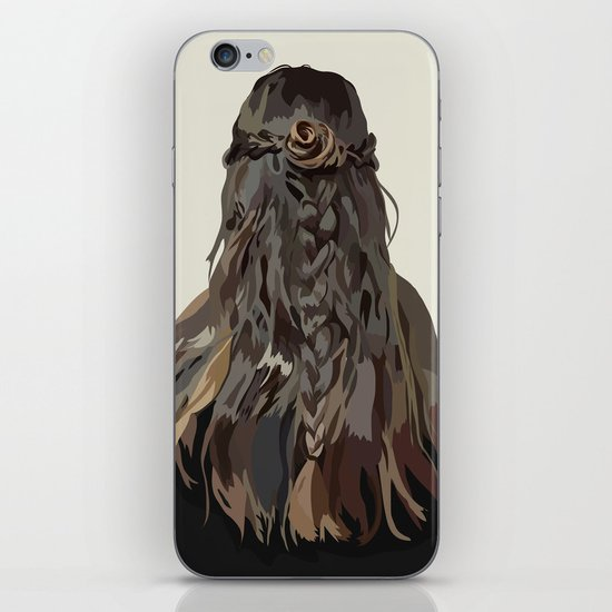 Let Down Your Hair iPhone & iPod Skin