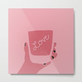 Liquid Love Metal Print