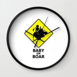 baby on boar Wall Clock