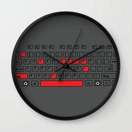 I Love You - Geek Love Keyboard Wall Clock