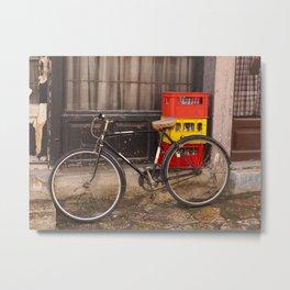 Worn Bicycle Metal Print