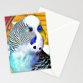 Blue Boy Budgie Bird Stationery Cards