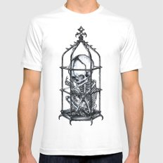 Fetus Cage Mens Fitted Tee White SMALL