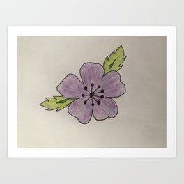 Een bloem voor myn bloem Art Print