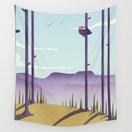 Owl in the woods Wall Tapestry