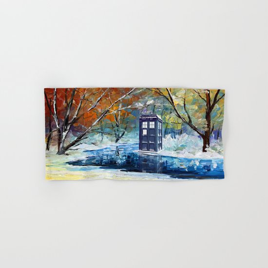 Starry Winter blue phone box Digital Art iPhone 4 4s 5 5c 6, pillow case, mugs and tshirt Hand & Bath Towel
