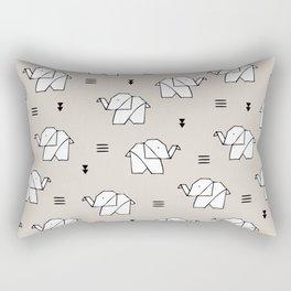 Origami elephant Rectangular Pillow