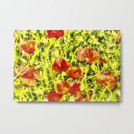 Poppy Watercolour Art Metal Print
