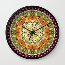 Dragonfly Mandala Wall Clock