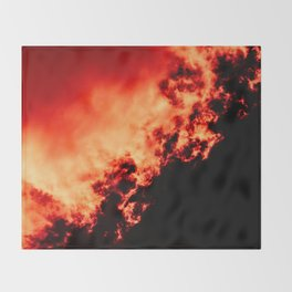Anger / All red Throw Blanket