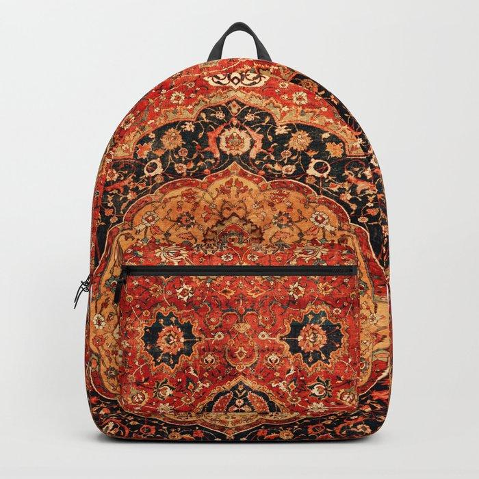 Seley 16th Century Antique Persian Carpet Print Rucksack