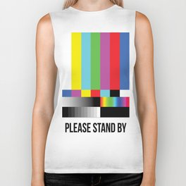 Color Bars Biker Tank