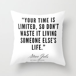 1     | Steve Jobs Quotes | 190720 Throw Pillow