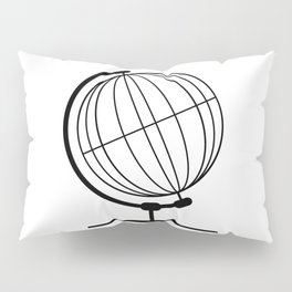 Mounted Wireb Globe On Rotating Swivel Pillow Sham