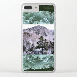 Wondrous Winter Scene Clear iPhone Case