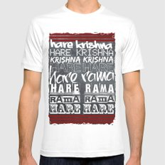 Hare Krishna Mens Fitted Tee MEDIUM White