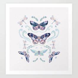 Butterflies painting Art Print