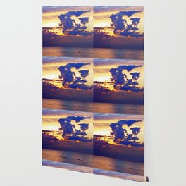 Abstract Clouds over the Sea - The Running Man Wallpaper