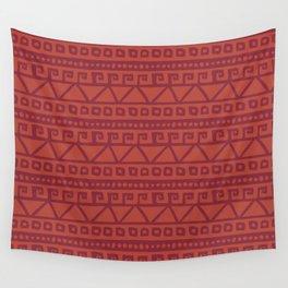 Aztec hand-drawn pattern Wall Tapestry