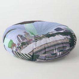 UFO Sightings- KC skyline Floor Pillow