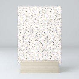 Hand painted tiny rainbow dots confetti . Mini Art Print